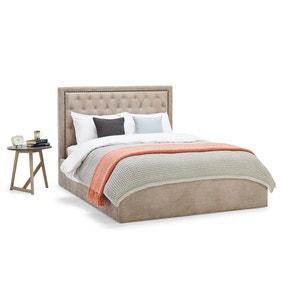 Rhea Mink Upholstered Ottoman Bed