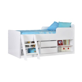 Felix White Low Sleeper Bed