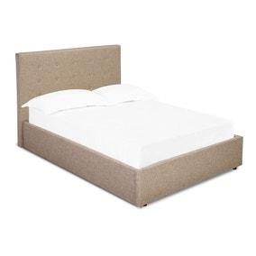 Lucca Beige Upholstered Bed Frame