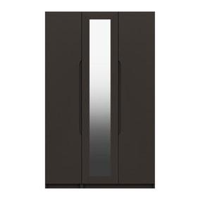 Legato Graphite 3 Door Mirrored Wardrobe
