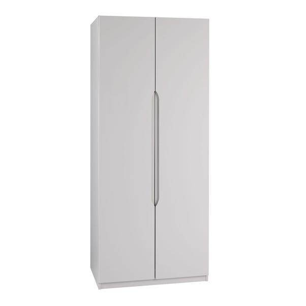 Legato Light Grey 2 Door Wardrobe