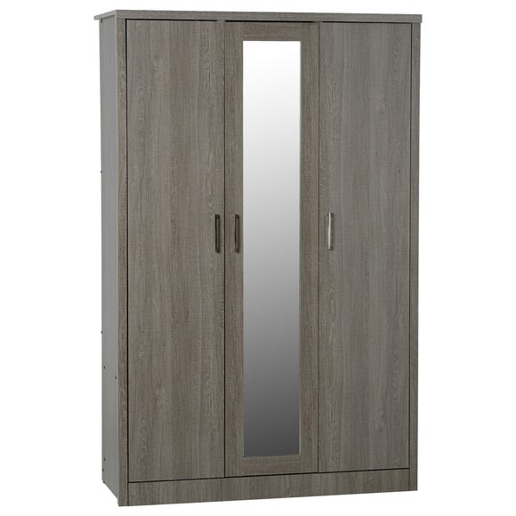 Lennon Black 3 Door Wardrobe