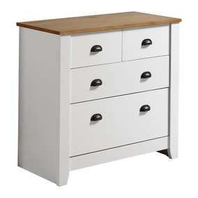 Ludlow White 4 Drawer Chest