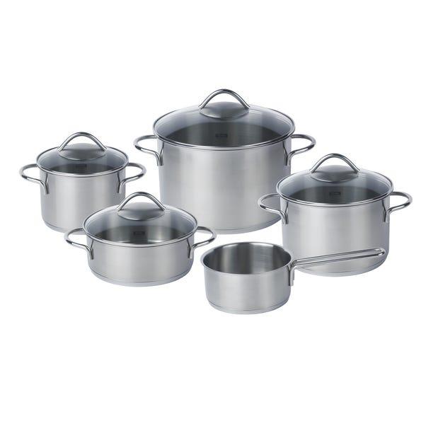 Fissler Vienna 5 Piece Pan Set Silver