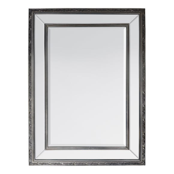 Marylebone Pewter 115x84cm Wall Mirror Grey