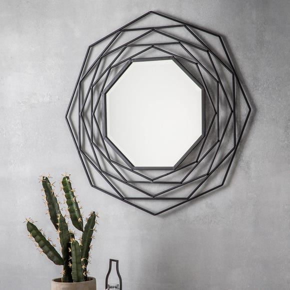 Estella Black 91cm Wall Mirror Black