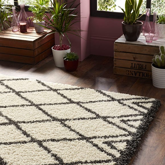 Luxury Shaggy Diamond Rug Luxury Shaggy Diamond Natural undefined