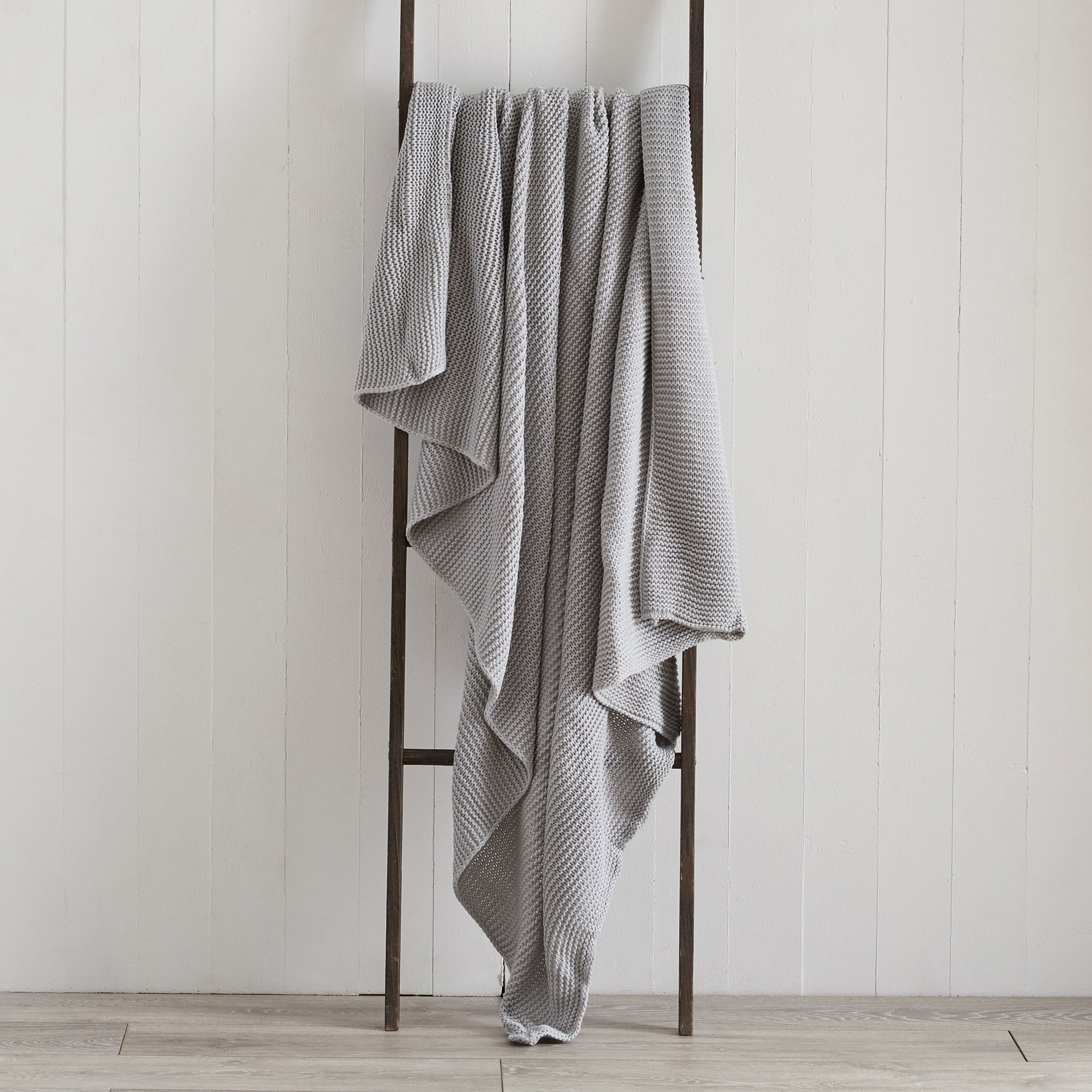 Photo of Chunky knit breckon grey throw grey