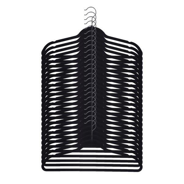 Pack Of 25 Black Flocked Hangers Black