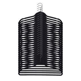 Pack Of 25 Black Flocked Hangers