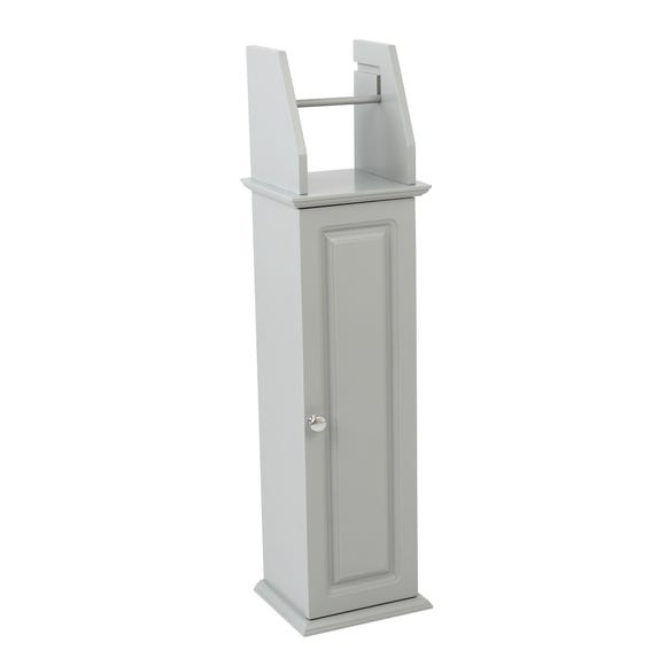 Verona Grey Toilet Roll Holder Grey