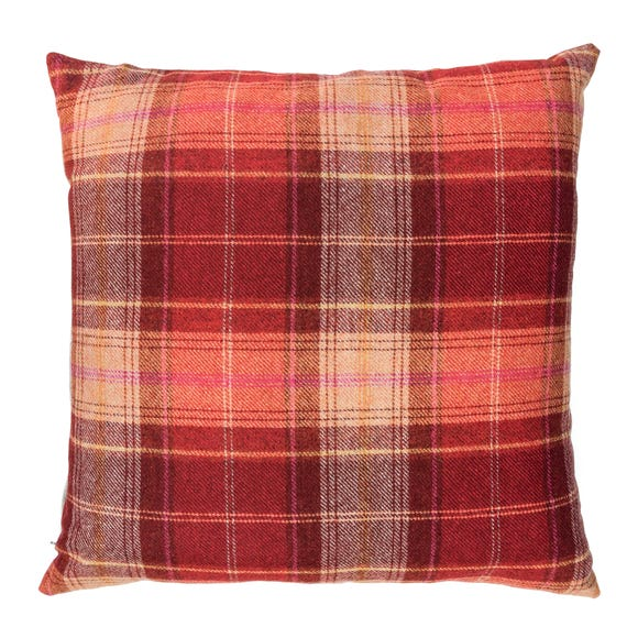 Tweed Woven Cushion Red undefined