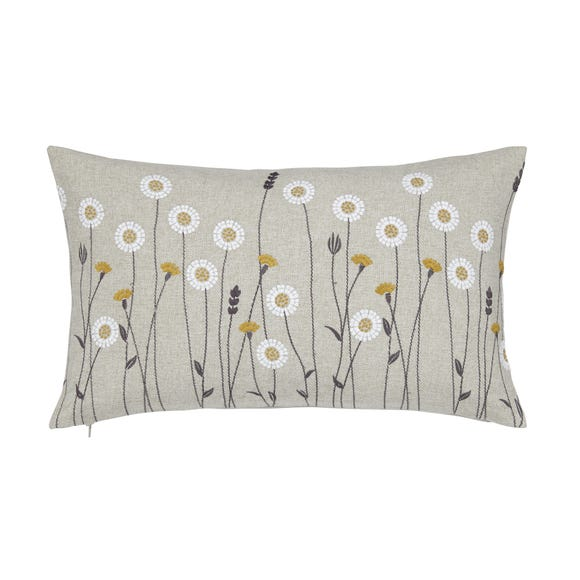 Homestead Scandi Floral Grey Cushion Grey