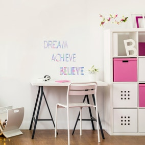 Metallic Slogan Wall Stickers