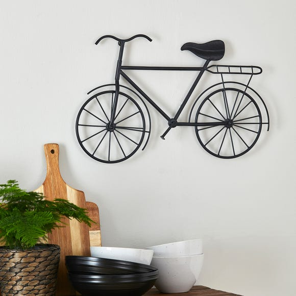 Metal Bike Wall Art Black