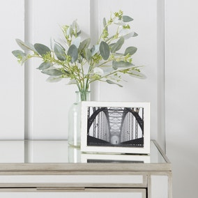 "White Edge Silver Plated Photo Frame 7"" x 5"" (18cm x 12cm)"