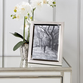 """Textured Silver Plated Photo Frame 10"""" x 8"""" (25cm x 20cm)"""