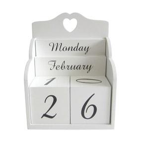 White Block Calendar
