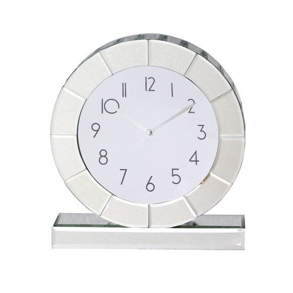 5A Fifth Avenue Mirrored Mantle Clock Silver