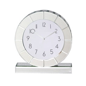 5A Fifth Avenue Mirrored Mantle Clock