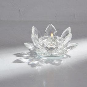 Dorma Glass Lotus Tealight Holder