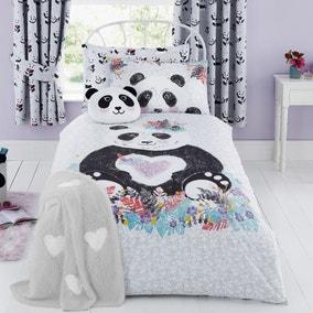 Panda Reversible Duvet Cover and Pillowcase Set