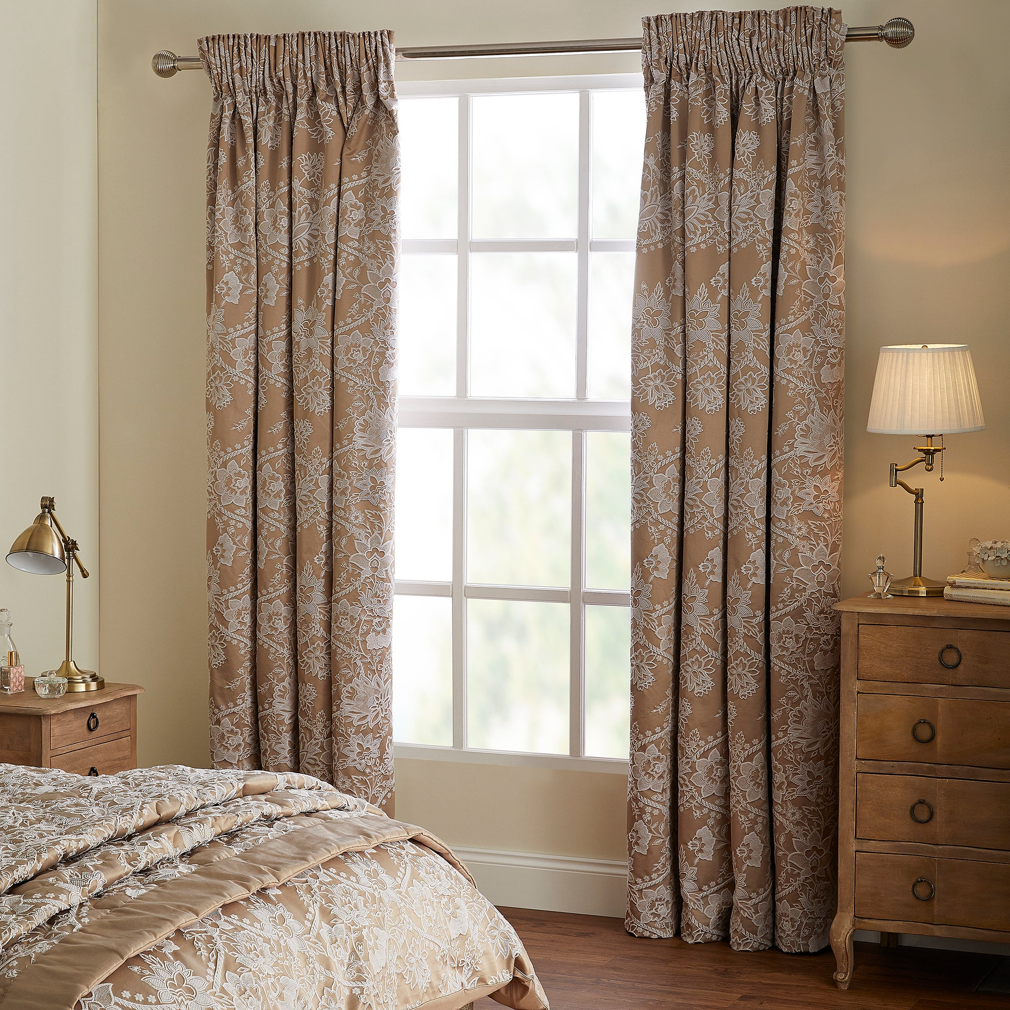 Photo of Dorma ottoman blackout curtains taupe