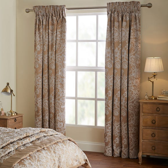 Dorma Ottoman Blackout Curtains Taupe undefined