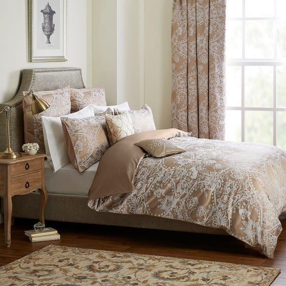 Dorma Ottoman Jacquard Taupe Duvet Cover  undefined