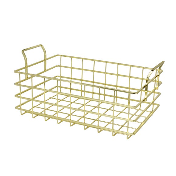 Gold Wire Basket Gold