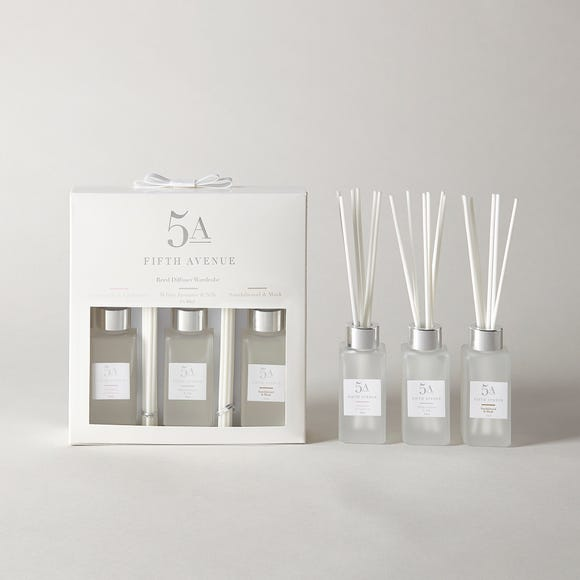5A Fifth Avenue Set of 3 White Reed Diffuser White