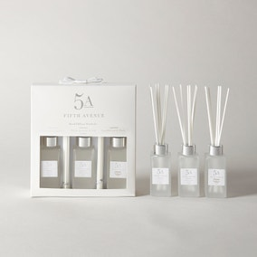 5A Fifth Avenue Set of 3 White Reed Diffuser