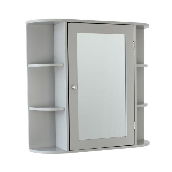 Verona Grey Mirror Cabinet
