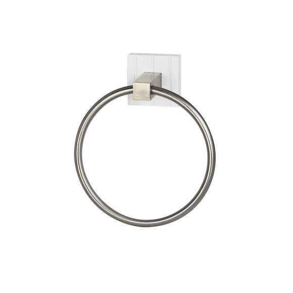 Tongue and Groove Towel Ring White