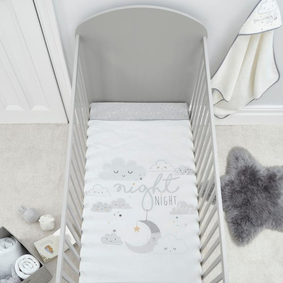 Floating Clouds 4 Tog Cot Quilt Grey