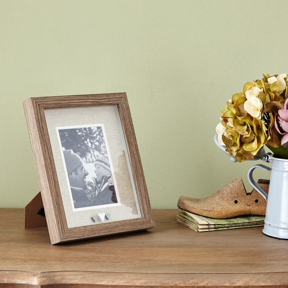 Heart Photo Frame Brown