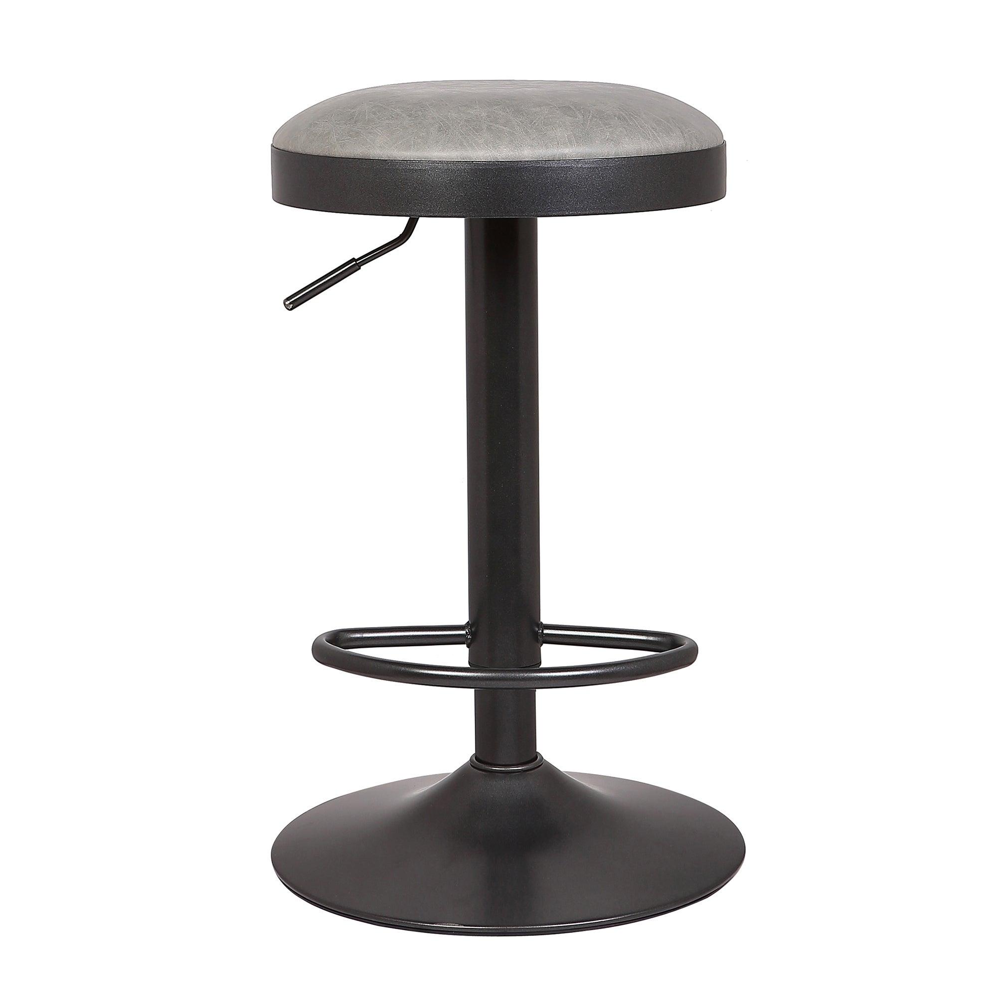 Terni Bar Stool Grey PU Leather Grey