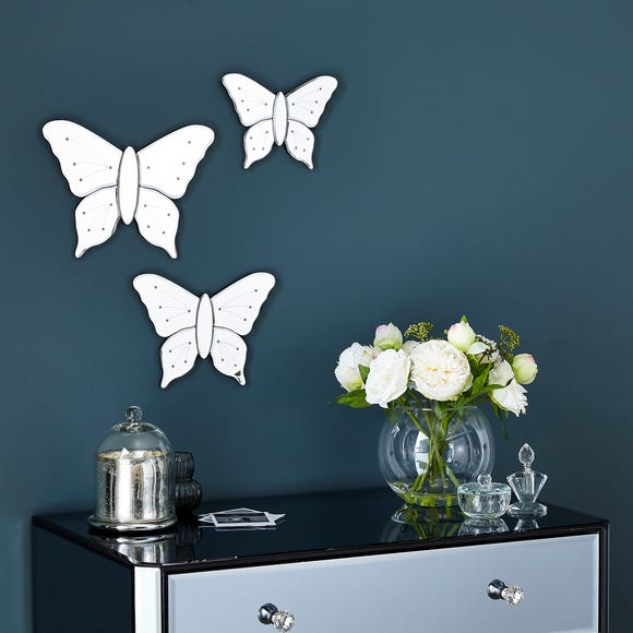 Three Butterfly Mirrors Silver