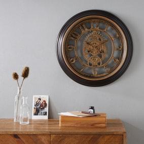 Mechanism 50cm Wall Clock Brass