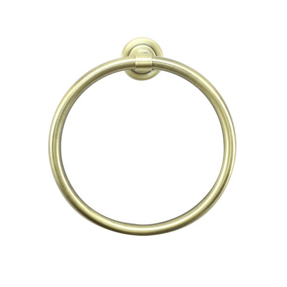 Brushed Brass Effect Towel Ring Brass
