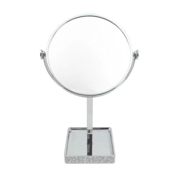Diamante Pedestal Mirror Chrome