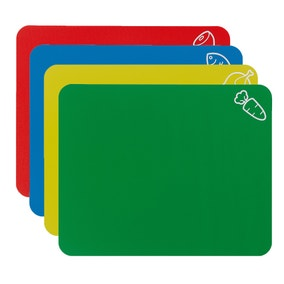 Pack Of Four Colour Coded Flex Chopping Mats