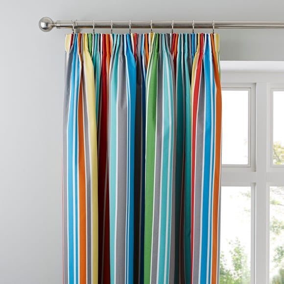 Monkeying Around Blackout Pencil Pleat Curtains Multi Coloured undefined
