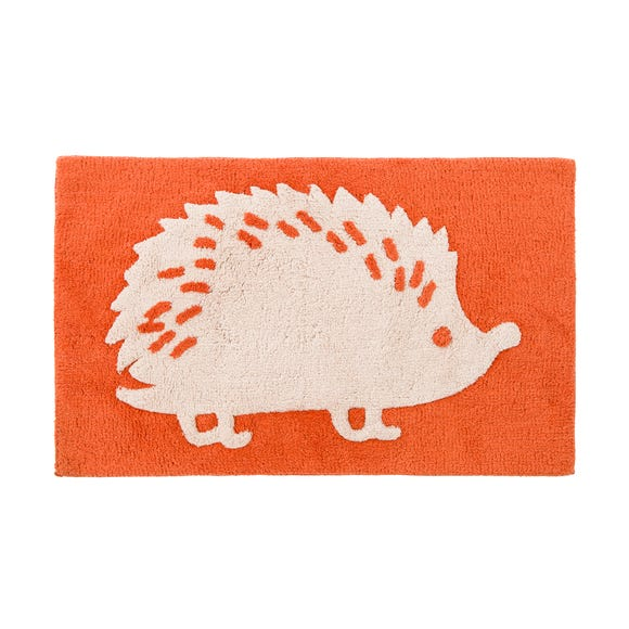Orange Hedgehog Bath Mat Orange