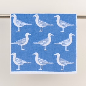 Seagulls Cornflower Towel