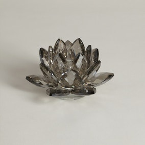 5A Fifth Avenue Smoked Crystal Tealight Holder