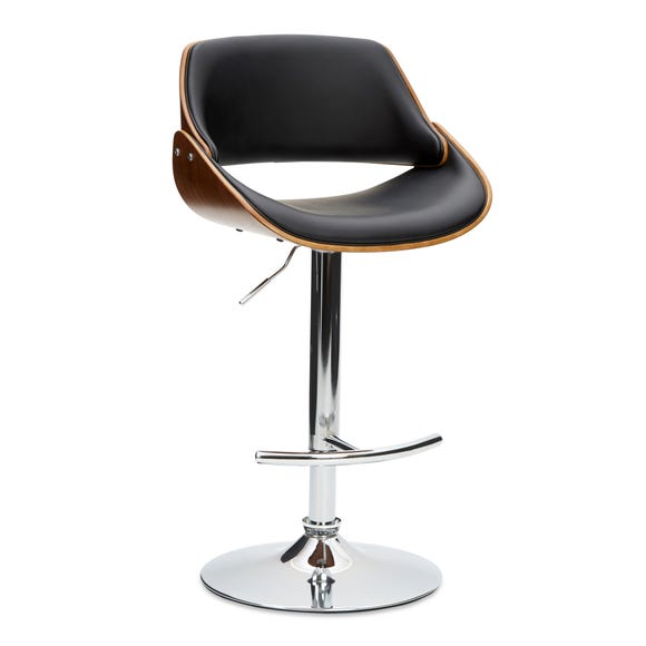 Trento Bar Stool Black PU Leather Black