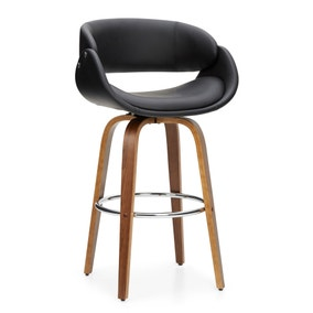 Torcello Bar Stool Black PU Leather
