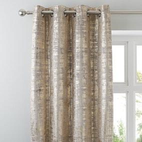 Romano Gold Velour Eyelet Curtains