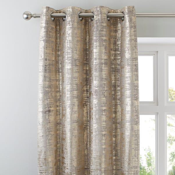 Romano Gold Velour Eyelet Curtains  undefined